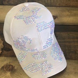 Accessories - Pink camo rhinestone baseball cap